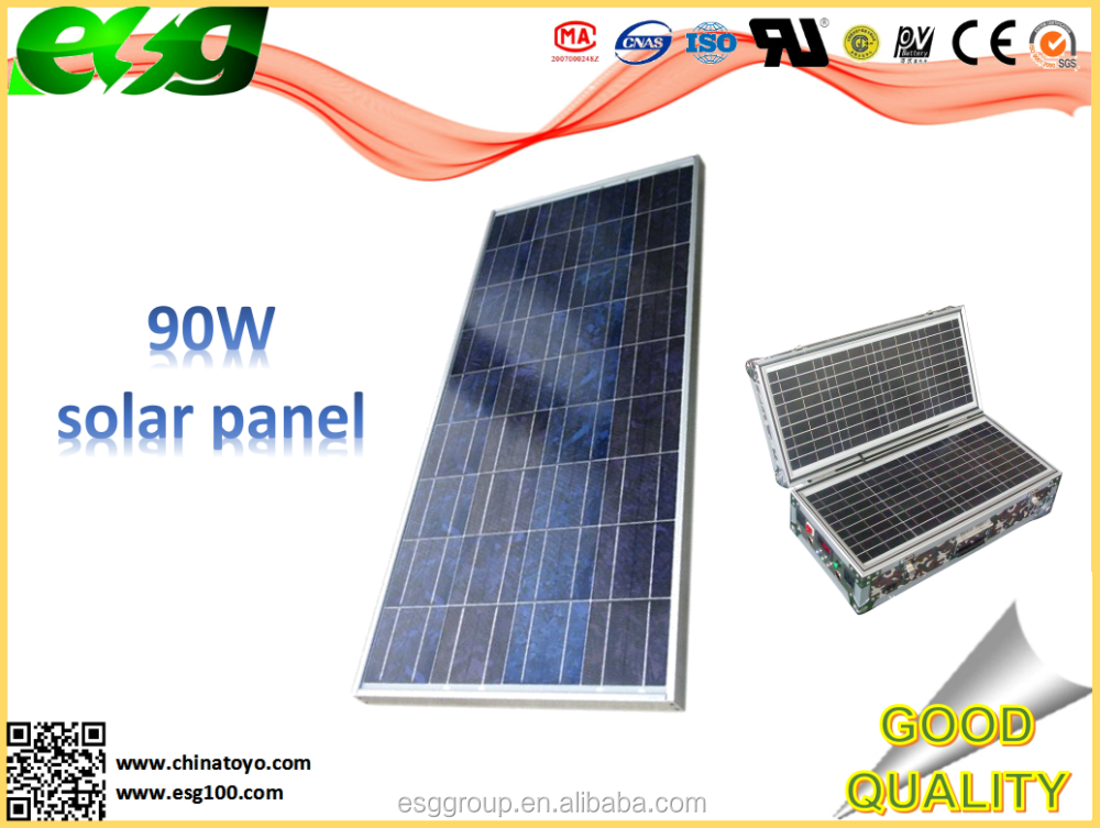 <strong>Solar</strong> off grid system 90w ISO|PV|TUV certificated pv panel