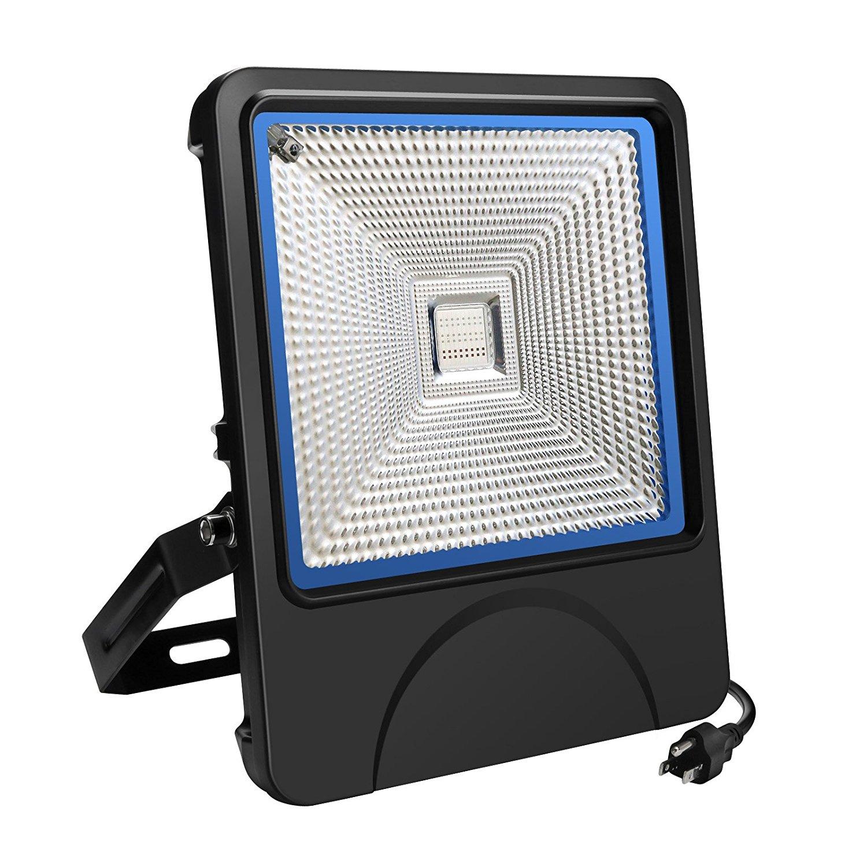 RGB Led Flood Lights,BVPOW Slim Style LED Security Light - 50W RGB Color Changing IP65 Waterproof OutdooR Flood Light ,16 Colors & 4 Modes Changing with 3-Prong Plug + Remote Control