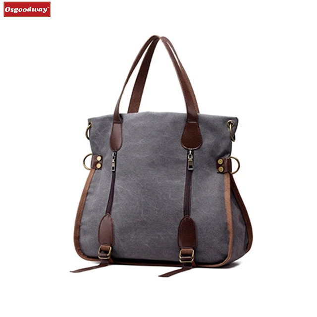 Osgoodway Fashion Big Women Canvas Bag Ladies Shoulder Bags Handbags Women Famous Brands Large Captain Casual Tote Bags