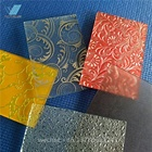 3mm 4mm stained glass/colored glass/textured glass