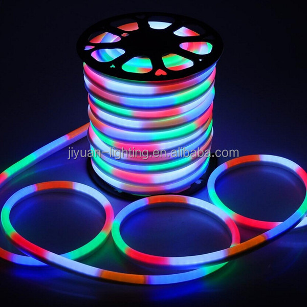 50meter roll color optional PVC round led neon flex tube rgbw led rope light for home party