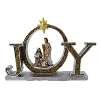 New resin Christmas religious ornaments with sign
