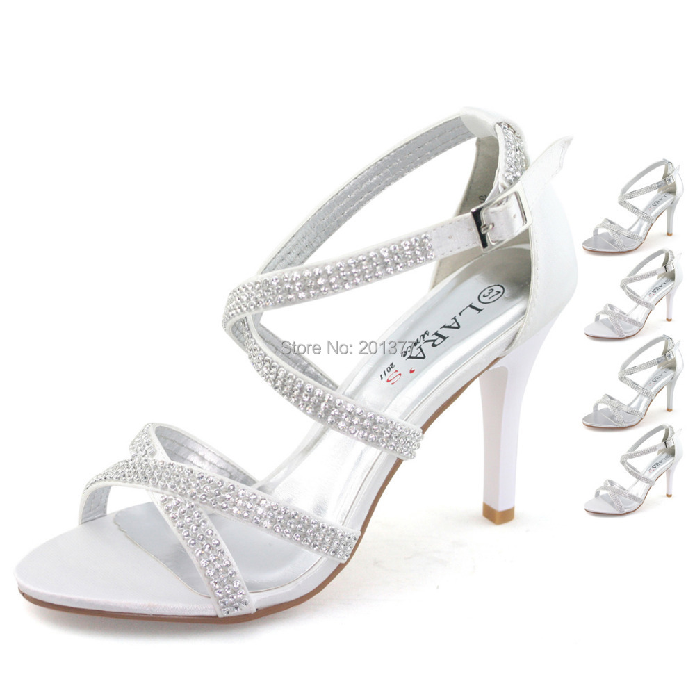Silver Heel Less Shoes
