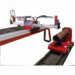 Fully automatic portable pipe plasma cutting machine