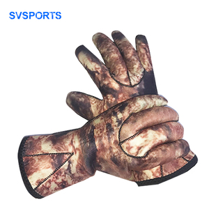 Stock 3mm Glued Anti-slip Flexible Thermal Neoprene diving gloves