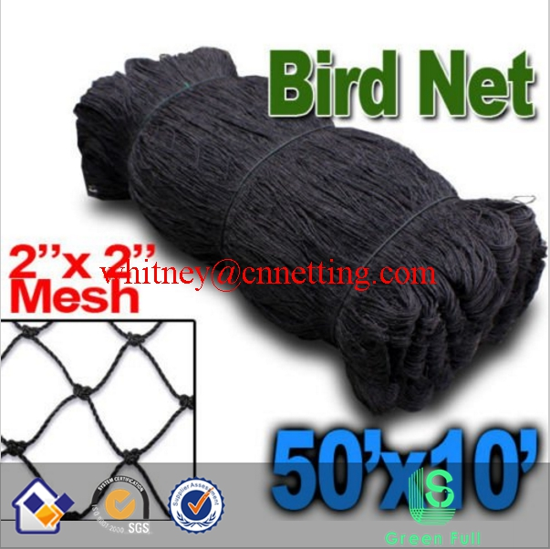 "New Anti Bird <strong>Netting</strong> 50'X10' Soccer Baseball Game Poultry fish Net 2""x2"" Mesh"