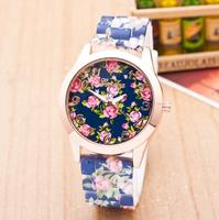 Colorful Geneva Silicon Watch for women