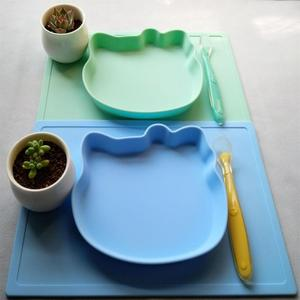 New Arrival Wholesale Hot Silicone Dinner Plate mat Holder Baby placemat Silicone Plate