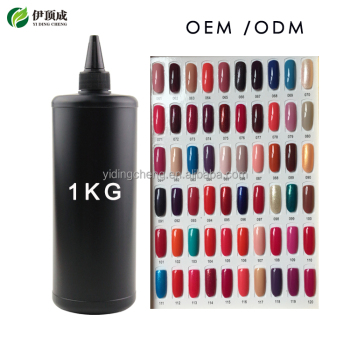 Yidingcheng factory good quality UV nail color gel polish 1 kg bulk