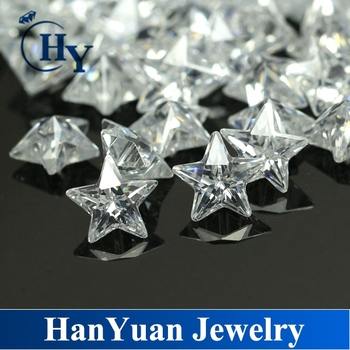 Top Quality Aaa White Clear Star Shape Machine Cut Cubic Zirconia ...