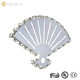 Chinese folding fan shape Modern indoor crystal sconce lighting fixture contemporary bedside wall lamp