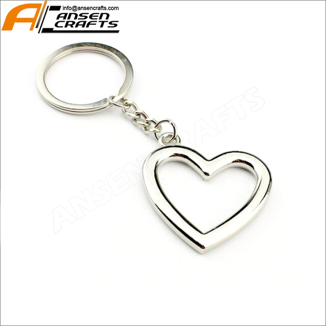 Metal Key ring Engraved HEARTS I LOVE YOU  Design BOXED Personalised Free