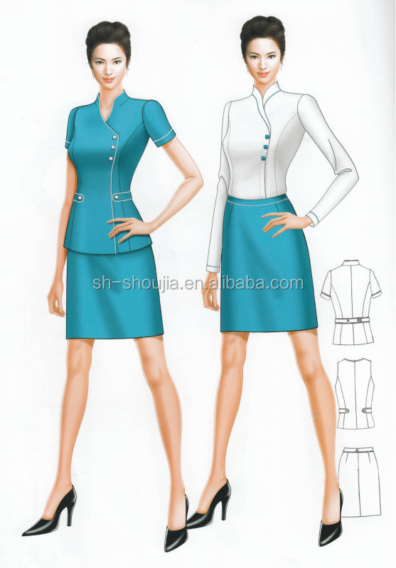 Customized fashion business suits for women ladies girls for Office design uniform