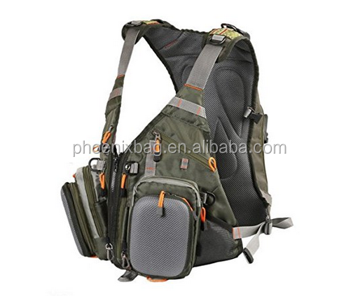 Fly Fishing Backpack Adjustable Size Mesh Fishing Vest Pack , Fly Fishing Vest and Backpack