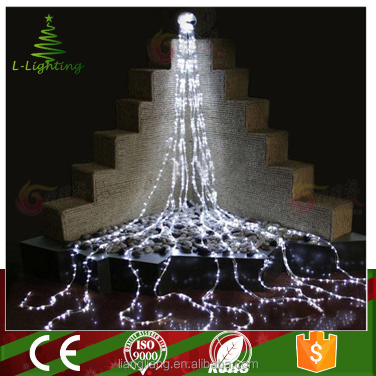 white waterproof led decoration christmas curtain lights