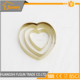 golden stainless steel heart shaped cookie cutter