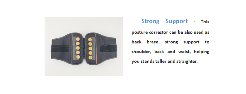 Ajustável Para Trás Postura Corrector Cinto Ortopédico para Apoio Lombar Brace