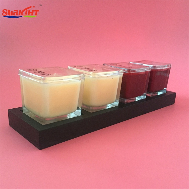 5x5 cm Wholesale Bulk China Factory Square Crystal Europe Candle with SGS