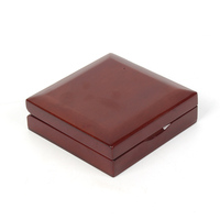 mdf wood luxury gift box coin box small wooden packing box with pad