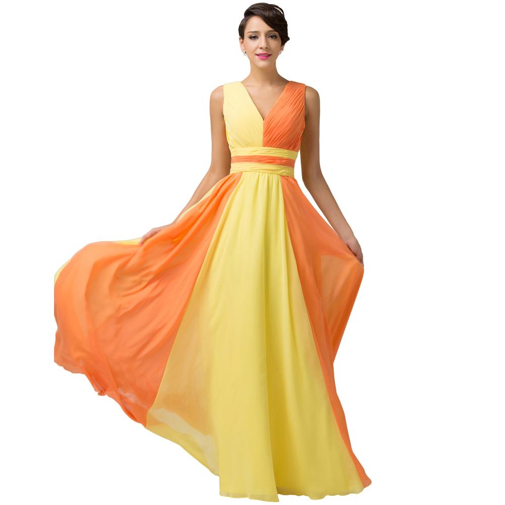 Orange and Yellow Dresses