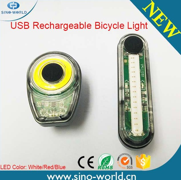New Hot Selling Bicycle Products, Rechargeable USB COB LED Bicycle Rear Light For Cycling