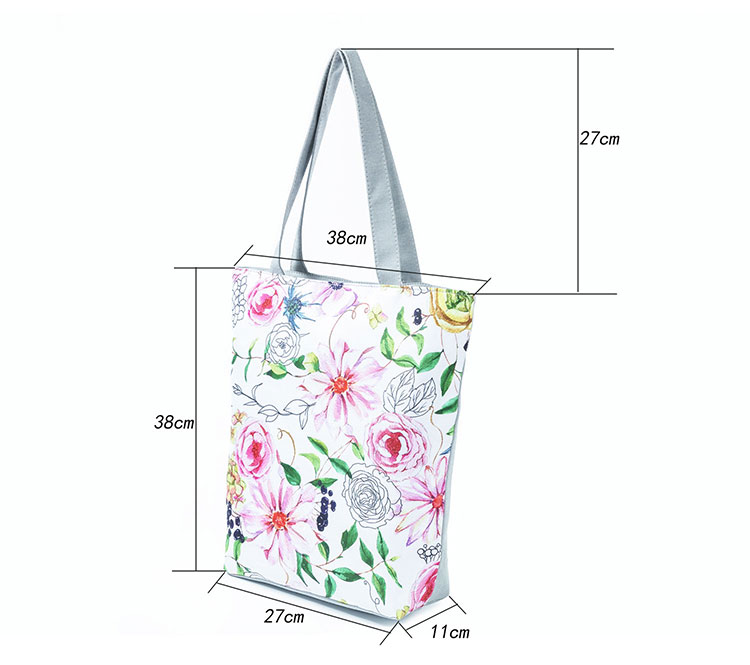 5bfffb62c57 New Red Flower Printing Ladies' Shopping Beach Bags Butterfly Printing  Canvas Tote Handbags For Women - Buy Ladies Shoulder Bags,Reusable Shopping  Bag ...