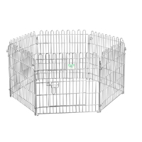 Large Outdoor Metal fence dog cage