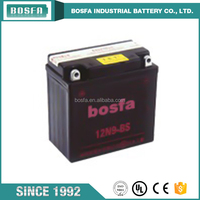 rechargeable motorcycle battery 12v 9ah 12N9-BS for motorcycle