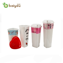 OEM Logo Printed PP Material Disposable Take Away Coffee Cups