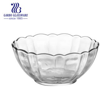 Crystal Salad Clear Footed Gl Bowl For Fruit Large Serving