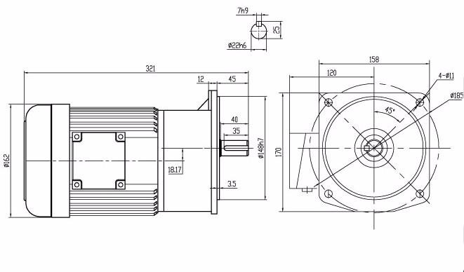 750w Helical Gear Small Gear Reducer Motor Buy Small