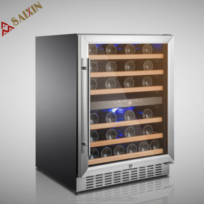 Built - in double zones 46 bottles compressor wine cellar