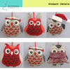 5 inch unique fabric valentine day owl craft hanging ornament