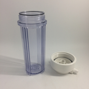 transparent water filter housing
