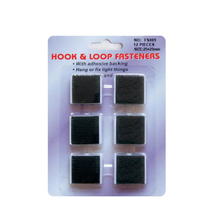 Double side adhesive hook and loop fasteners