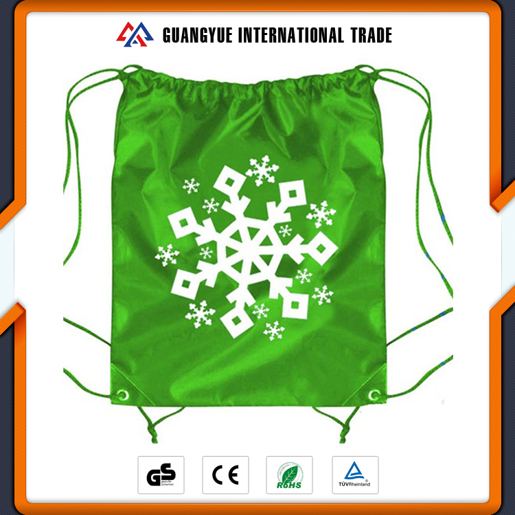 Guangyue Promotional Item Recycle Shoe Dust Polyester Drawstring Bag