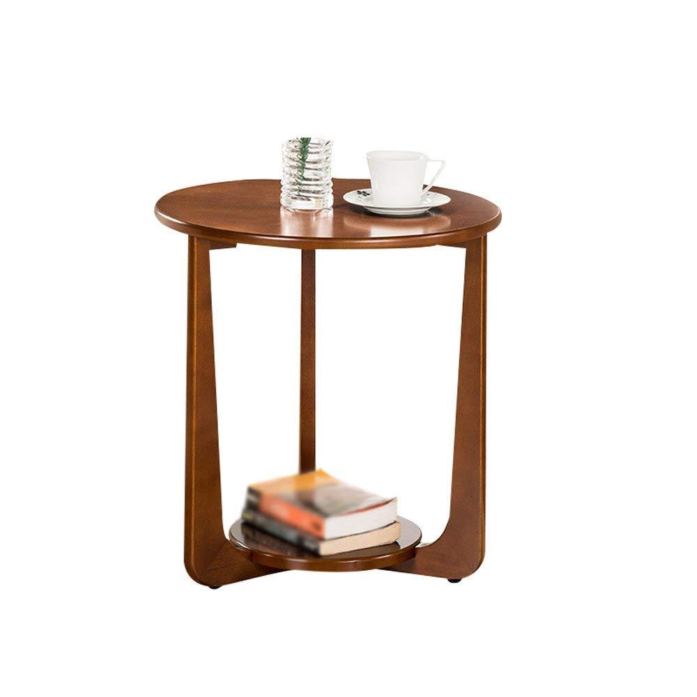 XUE Bedside table Bedside Table Solid Wood Coffee Table Sofa Side Tables Coffee Tables Side Table Modern Bedroom Table Furniture(Assembled,size:5053.5cm) (Color : Walnut color)