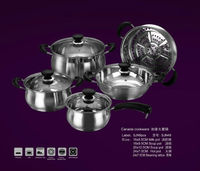 9pcs Stainless Steel Cookware Sets High Quality with Capsule Bottom