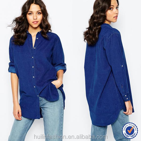New Arrival Ladies Blouses Tops Long Sleeves Ladies Jeans Top ...