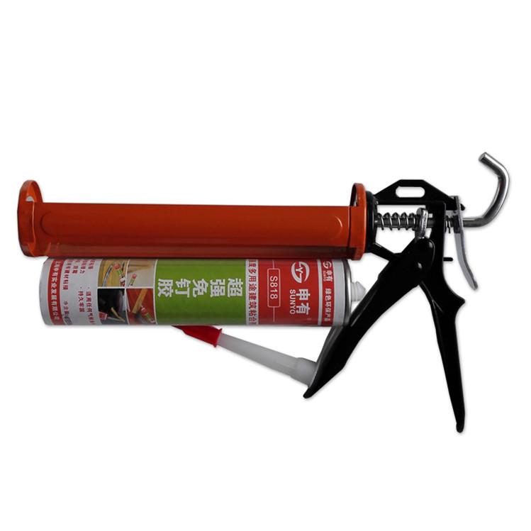 Heavy Duty Manual Aluminum Anti Dripping Silicone Sealant Caulking Gun