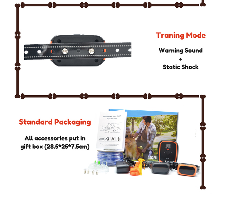 Rechargeable Underground Dog Electric Fence System For 2 Dogs