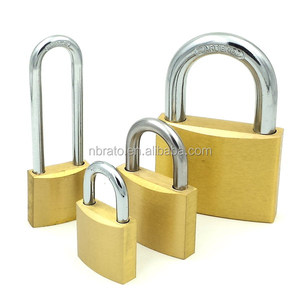 40mm tri-circle solid brass padlock master key