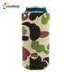 neoprene zip up sublimation used aluminum camo beer bike bottle gel can cooler holder