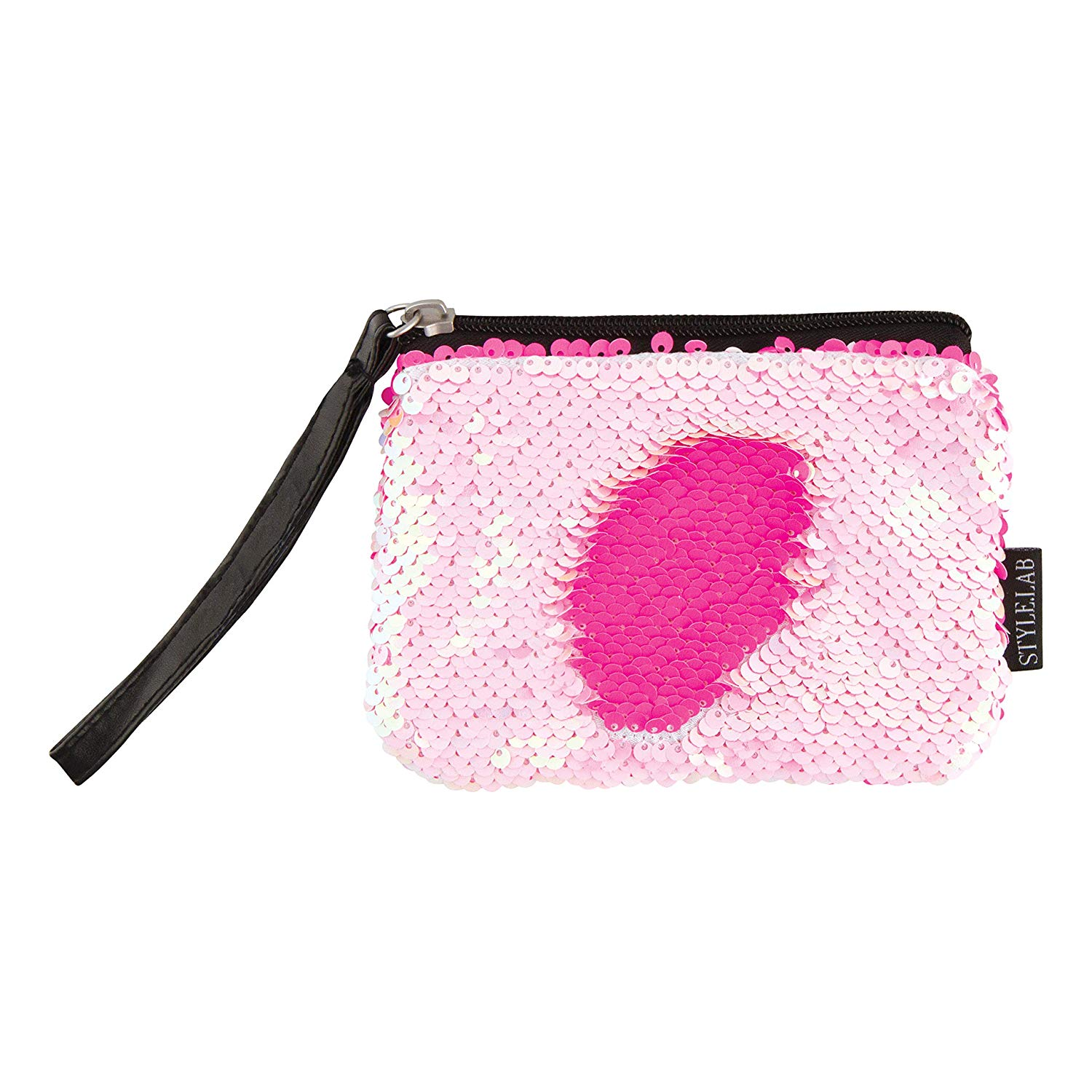 Style.Lab by Fashion Angels Magic Sequin Wristlet - Neon Pink/Iridescent Pink