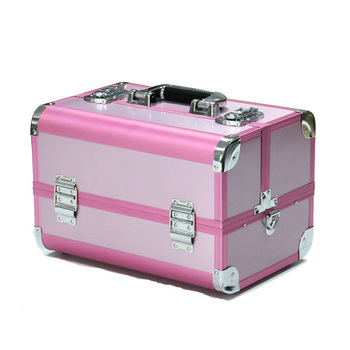 Wholesale Alibaba Pink Small Aluminium Makeup Vanity Case Cosmetic Box  Makeup Kit 91d206e5ccd6