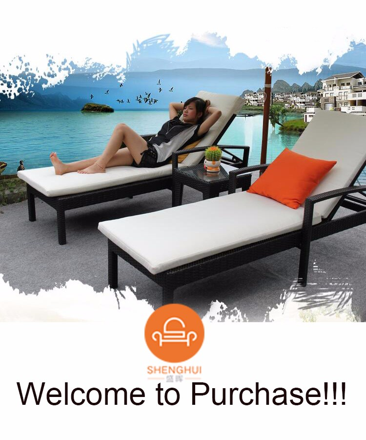 Factory Direct Selling Outdoor Pe Rattan Weaving Lounge Swimming Pool Lying Chair Used Hotel