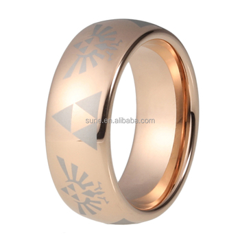 8mm Hot Sale Rose Gold Color Tungsten Carbide Wedding Enagement Ring