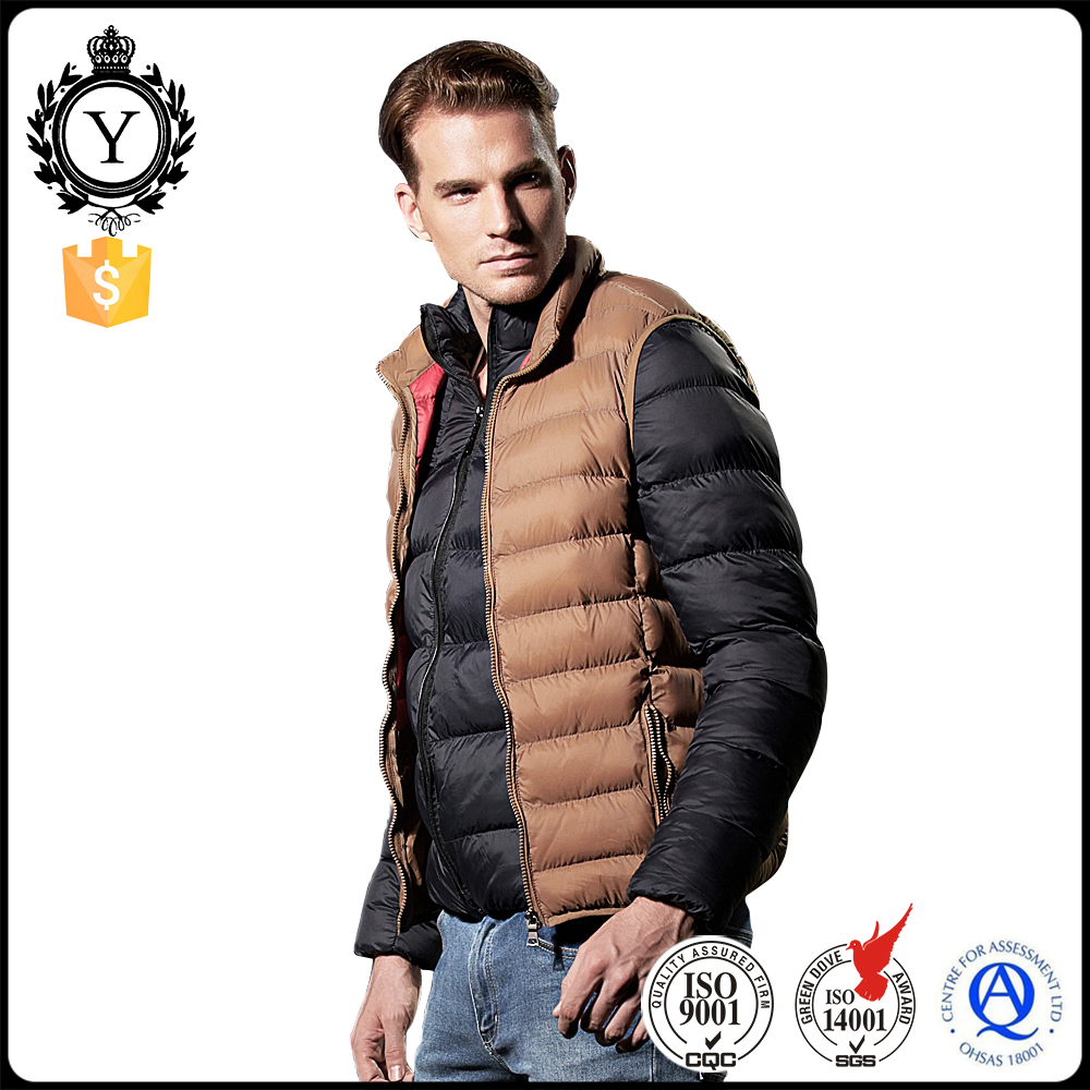 2016 COUTUDI Modern Khaki Winter Heated Cheap Breathable Lightweight Mens Nylon Vest Jacket