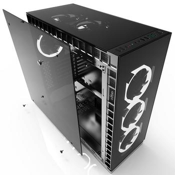 Aigo Crystal Computer Gaming Atx Case Four Side Tempered