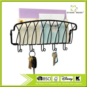 Mounted Mail Organizer and Key Holder for House or Office Use